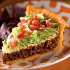A savory pie with a crisp, taco seasoned crust