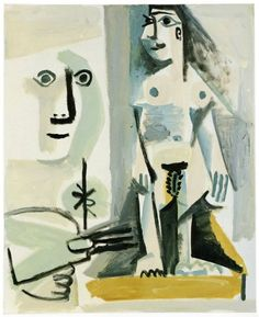Pablo Picasso, Le peintre et son modèle IV, 15-November/1964, Oil on canvas, 100 x 81 cm