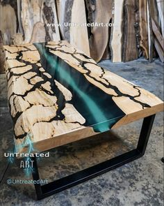 Diy Resin Table, Epoxy Wood Table, Epoxy Resin Wood, Diy Epoxy, Diy Resin Crafts, Wood Crafts, Woodworking Projects Plans, Diy Woodworking, Woodworking Quotes