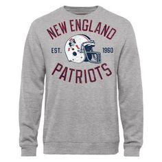 Men's New England Patriots Pro Line Heathered Gray Heritage II Big & Tall Fleece Sweatshirt