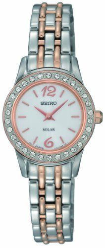 Seiko Women's SUP130 Dress Solar Classic Watch Seiko. $159.00. 30 Crystals. Water-resistant to 30 M (99 feet). Solar. Hardlex crystal. No battery required. Save 44%!