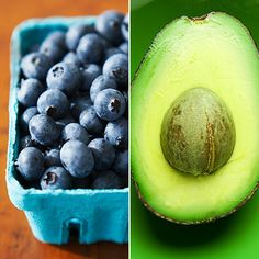 1 cup frozen blueberries avocado 1 cup coconut water juice of lime 1 serving vanilla whey protein powder or non-dairy protein powder 1 serving greens powder (optional) sweeten to taste with raw honey, stevia or ice cubes Juice Smoothie, Smoothie Drinks, Fruit Smoothies, Healthy Smoothies, Healthy Drinks, Smoothie Recipes, Simple Smoothies, Stay Healthy, Healthy Eats
