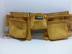 The Tool Belt » Husky 12 pkt leather work apron tool belt - construction pouch reduced price