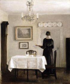 The Dining Room, Carl Vilhelm Holsoe