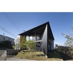 House-H | Works | acaa | 建築研究所 Facade, Exterior, Japan, Shelters, Architecture, Building, Outdoor Decor, Swag, Houses