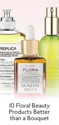 A bouquet of flowers may look pretty, but these floral-infused products will last long after Valentine's Day has come and gone.