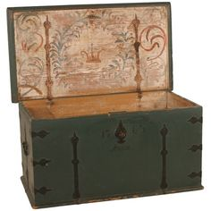 1763 Swedish Wedding Trunk. WOULD BE GREAT IN LIVING ROOM OR AT FOOT OF BED...PUT CEDAR IN FOR STORING BLANKETS AND SPECIAL THINGS!❤️❤️❤️