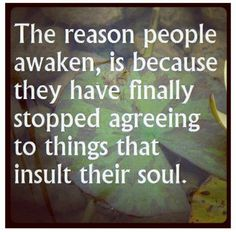 ..... finally stop agreeing......