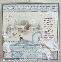 A christmas card in blue by Marianne