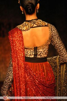 Splendid detailing at Sabyasachi's Delhi Couture Week show.