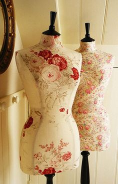 Tailored English Rose Linen Display Mannequin Dressform - Kate by Corset Laced Mannequin - http://www.etsy.com/shop/CorsetLacedMannequin