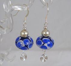 Lampworked Bead Earrings.