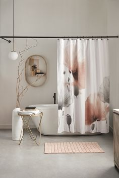 Shades of Blush Collection Bathroom Renos, Bathroom Shower Curtains, Bathroom Furniture, White Bathroom Paint, White Vanity Bathroom, Bathroom Marble, Master Bathroom, Bouclair Home, Bathroom Cleaning Hacks