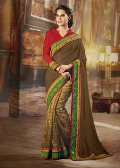 Buy Green Color Jacquard Party Wear Saree Online – Fashionic: Indian Ethnic Wear