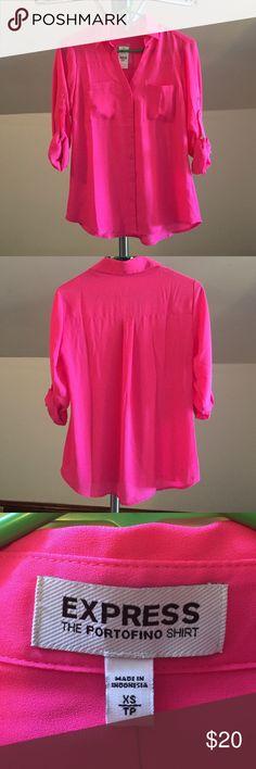 NWT Express Portofino Shirt - Size XS NWT Express Portofino Shirt. Size XS. Hot Pink. Express Tops Button Down Shirts