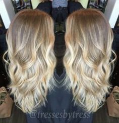 Blonde baby blonde hair color