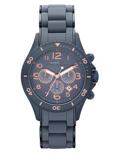 Navy Blue & Rose Gold Watch