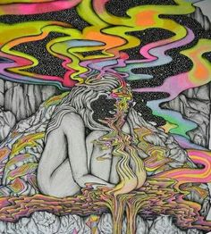 59 Ideas For Trippy Art Psychedelic Drugs Products Psychedelic Art, Arte Dope, Dope Art, Hippie Trippy, Hippie Art, Dope Kunst, Acid Art, Acid Trip Art, Music Painting