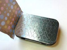 Caja de diseño con aluminio repujado 10