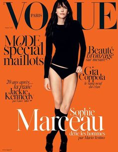 #SophieMarceau for #VOGUE PARIS - June 2014 #FASHIONmagazines