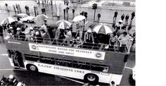 Southdown Bus on Brighton seafront supporting Brighton and Hove Albion - FA Cup Finalists 1983 Brighton & Hove Albion, Brighton And Hove, Hunt Photos, Old Photos, South East England, Home Again, Fa Cup, Home And Away, Past