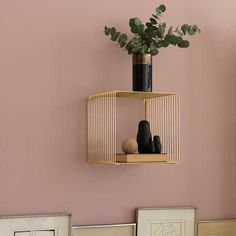 Panton Wire shelf in gold