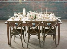 Rustic wedding table: http://www.stylemepretty.com/2014/06/06/bridal-warehouse-shoot-wiup/ | Photography: Chris Isham - http://chrisishamphotography.com/