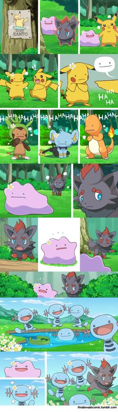 The tale of Zorua and Ditto! (OC comic) i.it/… The tale of Zorua and Ditto! (OC comic) i. Mega Pokemon, Pokemon Comics, Pokemon Funny, Pokemon Memes, Pokemon Fan Art, Pokemon Fusion, Pokemon Ditto, Nintendo Pokemon, Marshmello Wallpapers