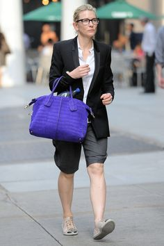 Cate Blanchett in NYC, July 23rd I love those eye glass frames and that black blazer on Cate. Great style!