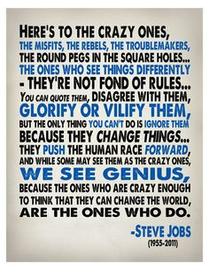 Funny pictures about Steve Job's words of wisdom. Oh, and cool pics about Steve Job's words of wisdom. Also, Steve Job's words of wisdom photos. Job Quotes, Quotable Quotes, Life Quotes, Quotes Pics, Quotes Images, Funny Quotes, The Words, Great Quotes, Quotes To Live By
