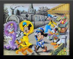 Mickey & Gang Donald Duck Old School Walt Disney Musical Fantasy Cartoon Movie Framed 16x20 Poster Print with Brand New High Quality 2 Black Wood Frame 18x22 Buy It Hang It by Mypostergallery, http://www.amazon.com/dp/B00B0ERBC0/ref=cm_sw_r_pi_dp_SfrLrb1WTX2K2