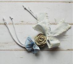 sive_pierko / Ručne vyrobený textilný náramok
