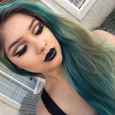 love the shadow but definitely not the black lipstick