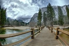 I think that the cloudy days make for the best pictures when in Yosemite :)