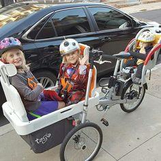 TAGA BIKE: Sai che si può trasportare fino a tre bambini in totale sicurezza! Scopri di più www.tagabike.it