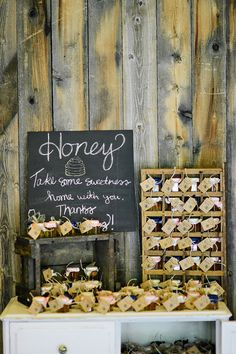 honey wedding favors, photo by Blush Photography http://ruffledblog.com/sundance-resort-wedding #weddingfavors