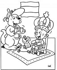Keningsdei Tomke kleurplaat / Koningsdag Tomke kleurplaat Snoopy, Boys, Fictional Characters, Literacy Activities, Baby Boys, Fantasy Characters, Guys, Sons, Young Boys