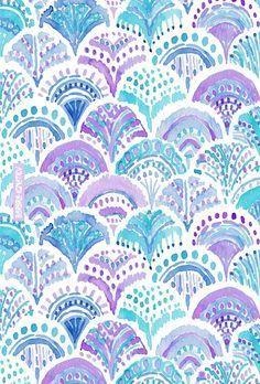 MERMAID DAYDREAMS Barbarian print #fishscales #mermaid #purple