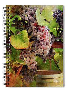This is a photo painting collage of purple grapes hanging over a wine barrel in a dreamy, rustic setting. You can use this digital image to print a beautiful print on canvas or create your own greeting cards, stationery, notebook, decoupage crafts, invitations, postcards, as your