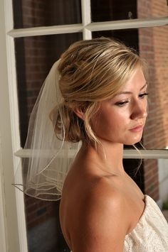 IVORY Veil with Beaded Edge and Scattered di SimplyBlueBridal
