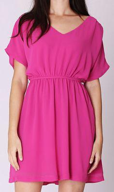 V-neck waisted dress 6377