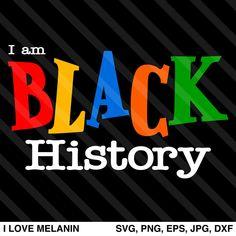 I Love Melanin - African American SVG files for Cricut & Silhouette Black History T Shirts, Black History Facts, Black History Month, Black Girl Art, Black Women Art, Black Girl Magic, Black Art, Image Paper, Black Love