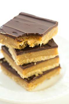 Millionaire Shortbread | browneyedbaker.com #recipe