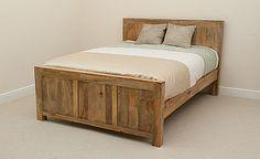 Mantis Light Natural Solid Mango 5ft King-Size Bed