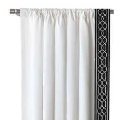 "Eastern Accents Ravensmoor Baldwin Room Darkening Rod Pocket Curtain Panel Size: 96"" L x 84"" W, Side: Right"