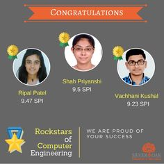 Silver Oak Group of Institute feels proud to announce the toppers of semester-2 from Computer