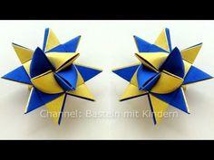 Sterne basteln: Fröbelstern - Basteln Weihnachten - YouTube