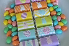 EASTER  Egg Hunt Printable Mini Chocolate Bar by WithEnvyParties, $4.00