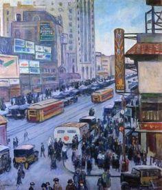 Times Square - Samuel Halpert - The Athenaeum