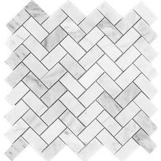 mini marble subway tiles herringbone backsplash - Google Search